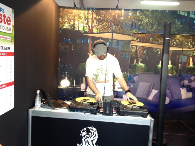 DJ at the Ritz-Carlton Stand